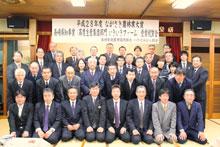 県知事賞を祝った部会員と関係者ら(大村市杭出津)